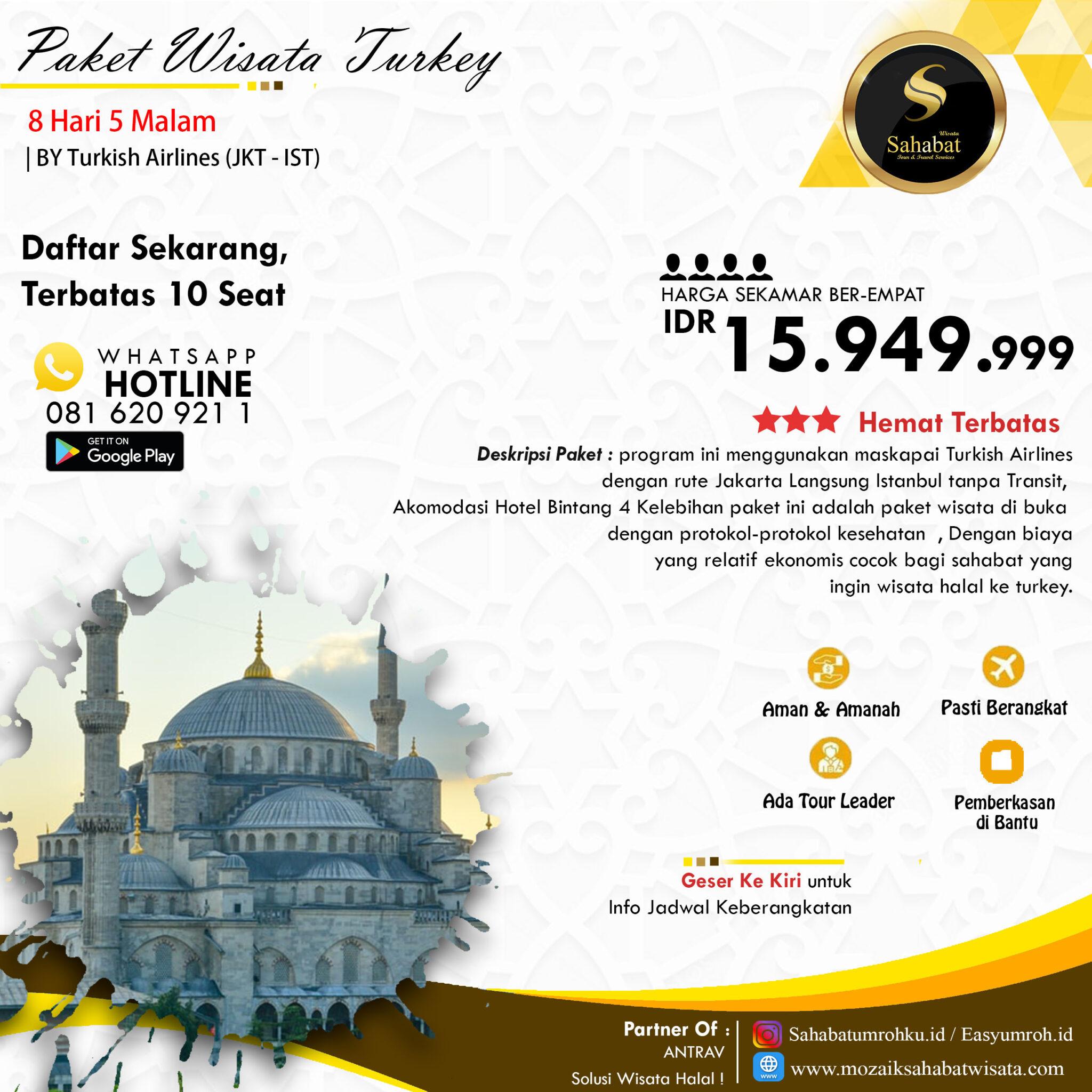 Paket Wisata Halal Turkey 8 Hari 5 Malam Mozaik Sahabat Wisata Travel Umroh Murah Start Surabaya Paket Umroh Hemat Umroh Surabaya Pesona Sahabat Wisata Mozaik